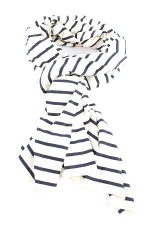 Petit bateau Gebreide sjaal wit-zwart gestreept patroon casual uitstraling