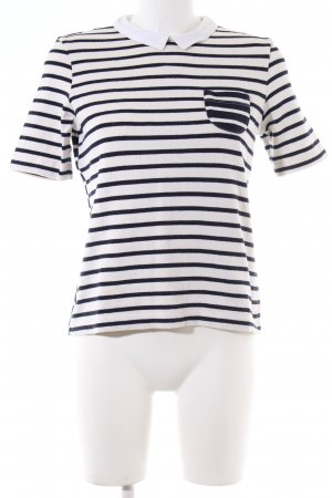 Petit bateau Strickshirt weiß-blau Streifenmuster Casual-Look