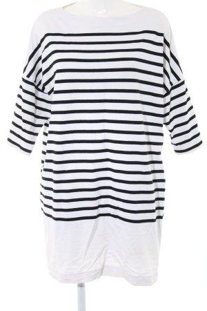 Petit bateau Sweatkleid weiß-schwarz Streifenmuster Casual-Look