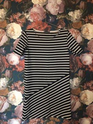 Petit bateau Vestido estilo camisa blanco puro-azul oscuro
