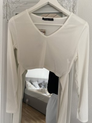 Boohoo Cropped Top white