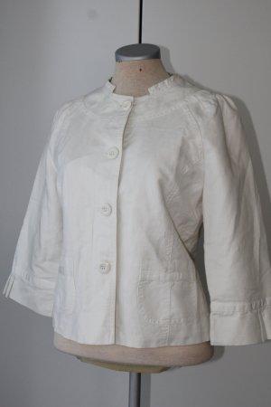 Fransa Blazer court blanc coton