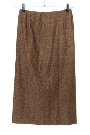 petite sophisticate Gonna di lana marrone puntinato stile professionale