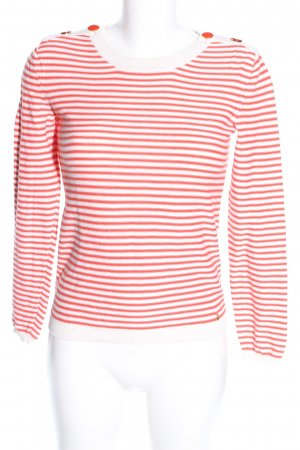 petits hauts Rundhalspullover creme-rot Allover-Druck Casual-Look