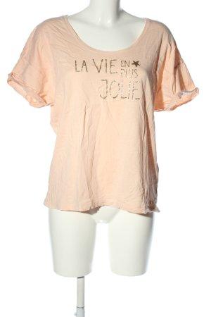 petits hauts T-Shirt nude-goldfarben Schriftzug gedruckt Casual-Look