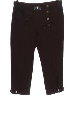 Petressa Tradycyjne spodnie brązowy Wyhaftowany logo W stylu casual