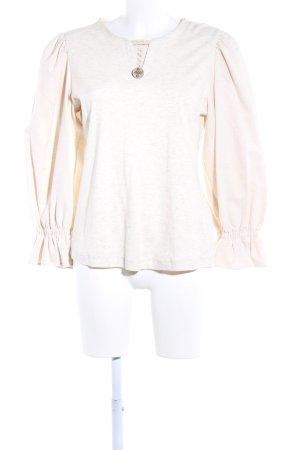 Petressa Maglione tradizionale bianco sporco puntinato stile casual
