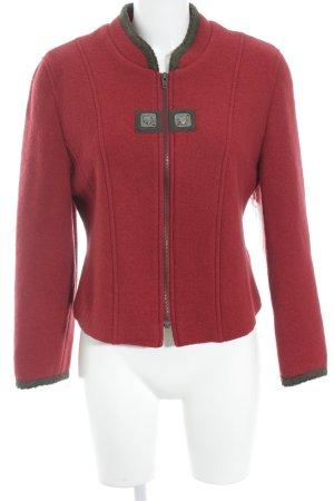 Petressa Woll-Blazer rot-dunkelbraun klassischer Stil
