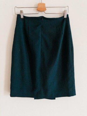 Falda de talle alto petróleo Lino