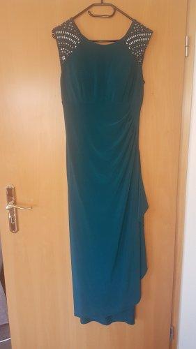 Petrol-farbenes Abendkleid