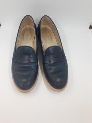 Tod's Wingtip Shoes petrol-steel blue