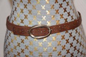 Petrol Industries Cinturón de cuero marrón Cuero