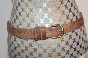 Petrol Industries Cinturón de cuero beige Cuero