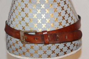 Petrol Industries Cinturón de cuero coñac-color plata Cuero