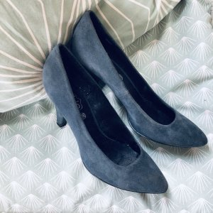 Cable & Gauche Pointed Toe Pumps petrol