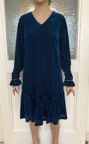 Petrolblaues Langarm-Kleid von Yumi