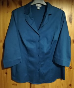 petrolfarbene Bluse mit 3/4 Arm von Peter Hahn
