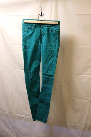 Petrolfarbene Skinny Jeans von H&M
