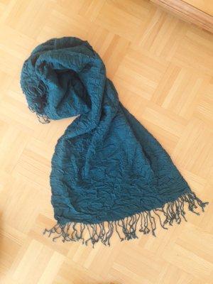 Codello Écharpe à franges bleuet polyester