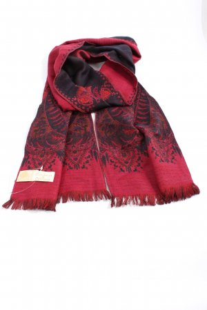 Petrusse Woolen Scarf red-black themed print casual look