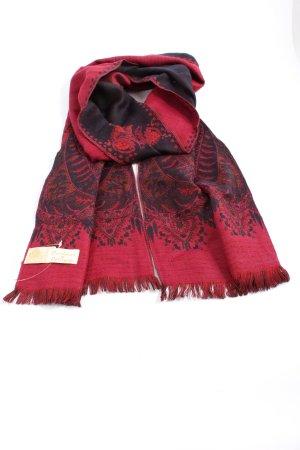 Petrusse Wollschal rot-schwarz Motivdruck Casual-Look