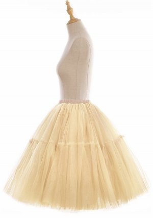 Taffeta Skirt cream-oatmeal