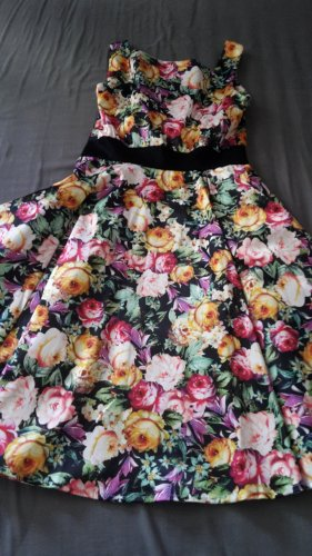 Hearts & Roses Petticoat Dress multicolored polyester