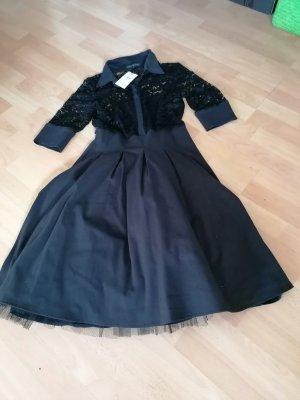 Made in Italy Vestido con enagua negro