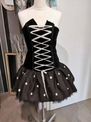 EMP Petticoatjurk wit-zwart