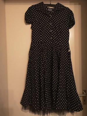 Hearts & Roses Vestido con enagua blanco-negro