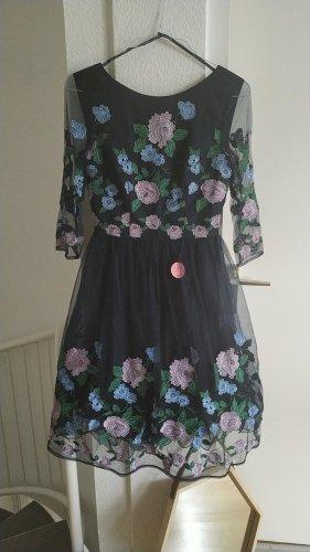 Chi Chi London Sukienka z halką ciemnoniebieski
