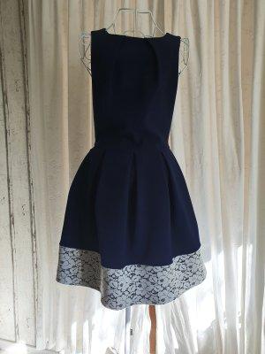Closet Petticoat Dress white-dark blue
