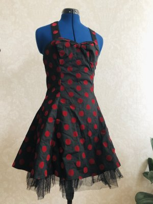H&R London Petticoat Dress black-red
