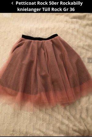 Falda de tafetán rosa-negro