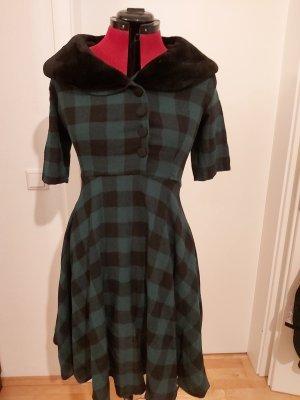 unknown Robe avec jupon noir-vert forêt