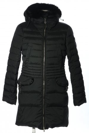 Peuterey Down Coat black quilting pattern casual look