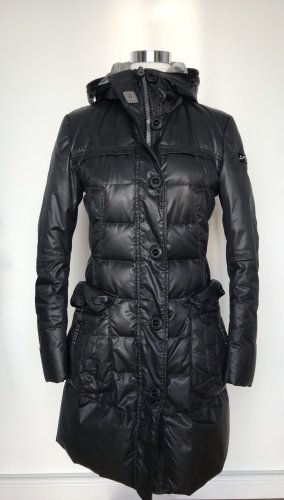 Peuterey Down Coat black-silver-colored