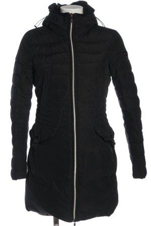 Peuterey Gewatteerde jas zwart quilten patroon casual uitstraling