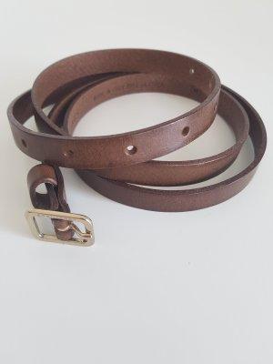 Peuterey Cinturón de cuero color oro-marrón claro