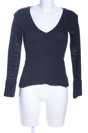 Peuterey V-Ausschnitt-Pullover blau Casual-Look