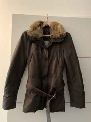 Peuterey Futrzana kurtka taupe-brązowy