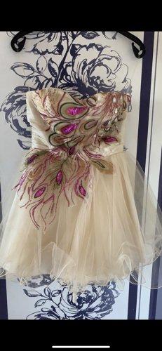 Pfau Kleid Beige