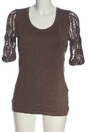 Pfeffinger Short Sleeve Sweater brown casual look