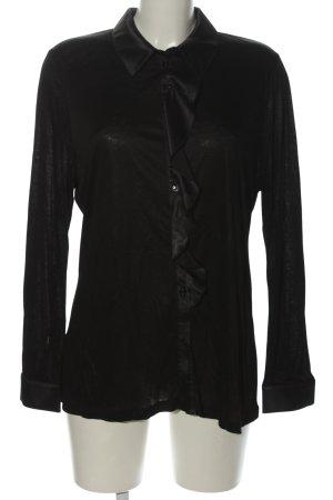 Pfeffinger Langarm-Bluse schwarz Casual-Look