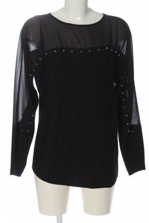 Pfeffinger Langarm-Bluse schwarz Elegant