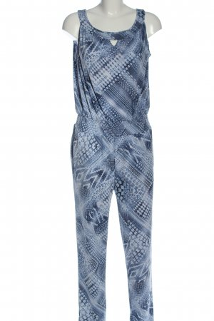 Pfeffinger Langer Jumpsuit blau abstraktes Muster Casual-Look