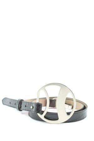Pfeffinger Leather Belt black animal pattern elegant