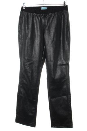 Pfeffinger Pantalone in pelle nero stile casual