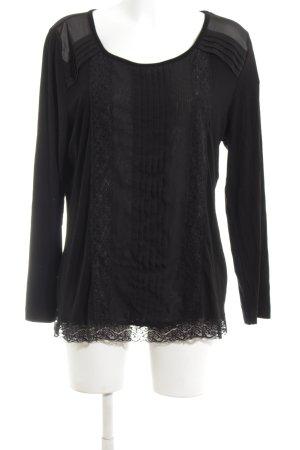 Pfeffinger Schlupf-Bluse schwarz Casual-Look