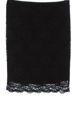 Pfeffinger Falda de encaje negro look casual